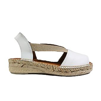 Toni Pons Etna White Leather Womens Pull On Espadrille Shoes