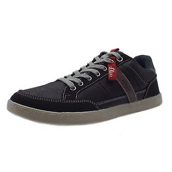 S.Oliver Denzel Men's 13636 Casual Lace Up Trainers In Black Kombi