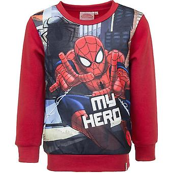 Spiderman boys sweatshirt jumper 'my hero'