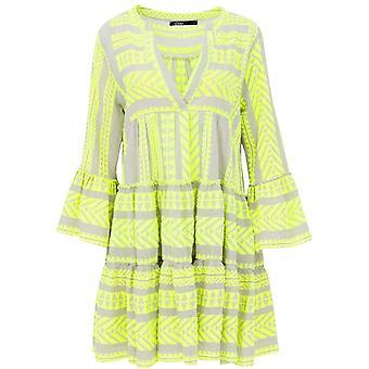 Devotion Ella Neon Embroidered Knee Length Dress