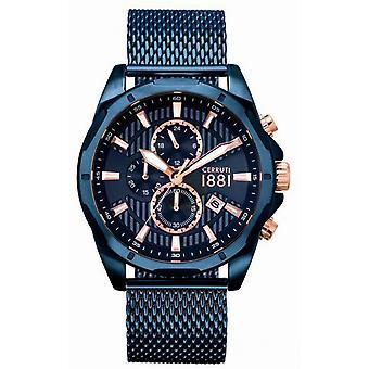 Montre Cerruti Montres CRA20504 - Montre  Acier Bleu Homme