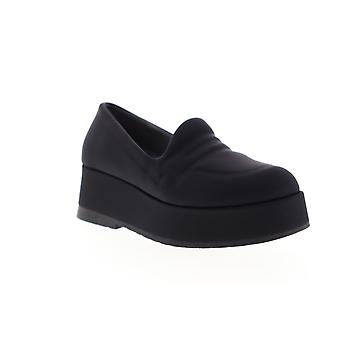 Camper Wilma  Womens Black Nubuck Leather Slip On Flats Shoes