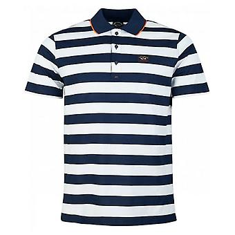 Paul And Shark Mercerized Tipped Striped Polo
