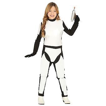 Meisjes witruimte Trooper Fancy Dress kostuum
