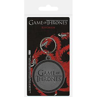 Game of Thrones Logo Rubber Sleutelhanger