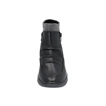 Jana N/A Women's Boots Black Lace-Up Boots Winter