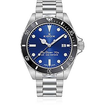 Edox - Wristwatch - Men - SkyDiver - 70s Date - 53017 3NM BUI
