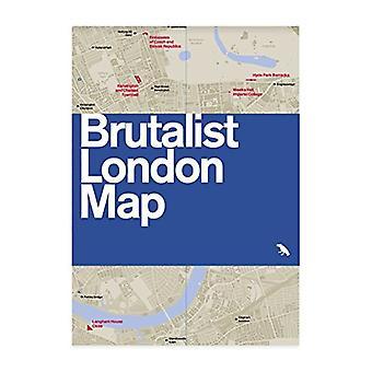 Brutalist London Map by Henrietta Billings - 9780993193453 Book