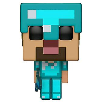 Minecraft Steve dans Diamond Armor US Exclusive Pop! vinyle