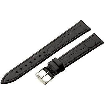 Morellato leather bracelet black 16 mm A01U1563821019CR16 BIRMINGHAM man