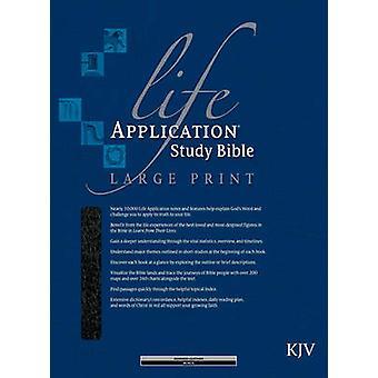 KJV Life Application Study Bible Large Print - Burgundy - 97808423688