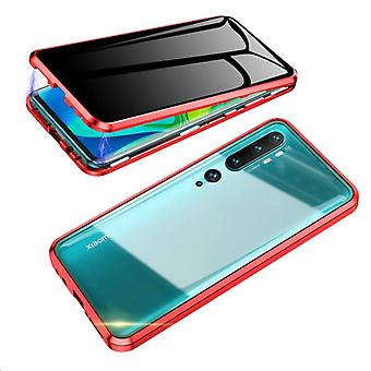 Mobile Schale mit doppelseitigem gehärtetem Glas für XiaoMi CC9 PRO - Rot