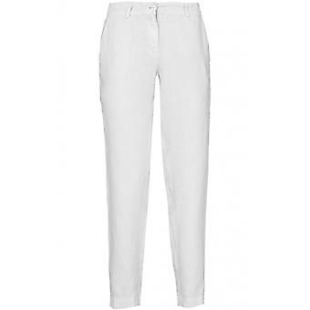 Backstage White Linen Trousers