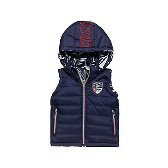 Alouette Boys' Double View Vest With Hood And Pockets