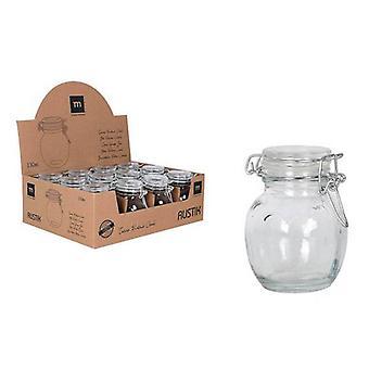 Glass Jar La Mediterránea 130 ml Hermetically sealed