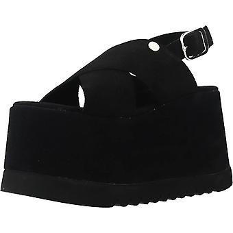 Gelbe Sandalen Tag aus Farbe Schwarz
