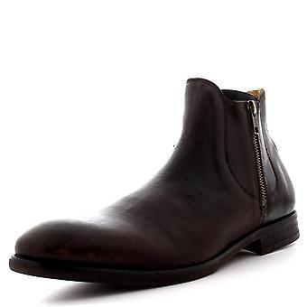 Mens H por Hudson Mitchell Casual couro inteligente Zip tornozelo sapatos bota de trabalho