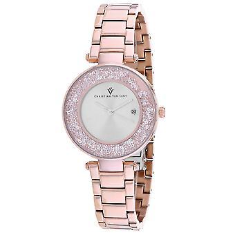 Christian Van Sant Women's Dazzle Silver Dial Watch - CV1213