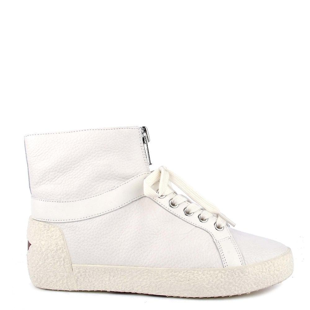 Ash Footwear Nomad White Leather Trainers KIT0o
