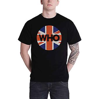 The Who T Shirt Union Jack Circle Band Logo new Official Mens Black