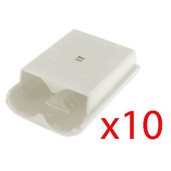 10x Xbox 360 Wireless Controller White Battery Cover Pack Shell