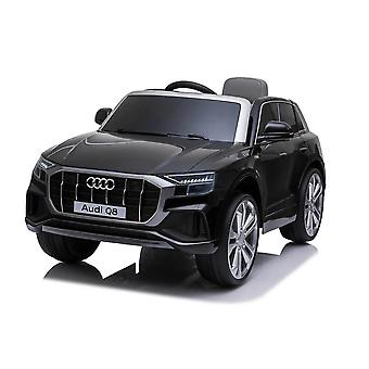 licensed audi q8 12v kids electric ride on car with remote control black