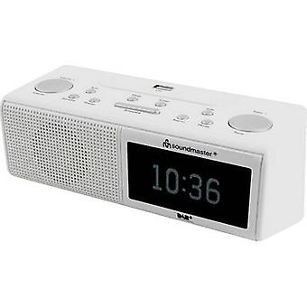 soundmaster UR8350WE Radio väckarklocka DAB +, FM AUX, USB Vit