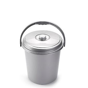 Plasticforte zilver Eco vuilnisbak