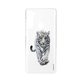 Rumpf für Xiaomi Redmi Note 8 Weiche weiße Tiger