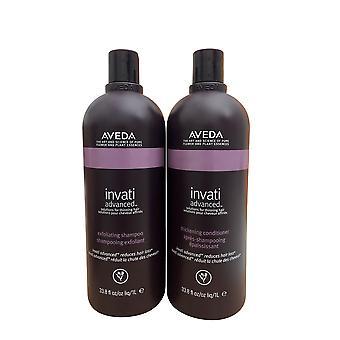 Aveda Invati Advanced Exfoliating Shampoo & Thickening Conditioner Set 33.8 OZ