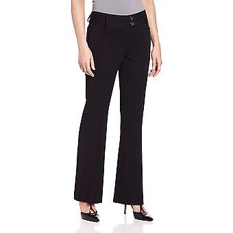 Rafaella femei ' s curbați se potrivesc Gabardine cizme picior pantaloni, negru, 6