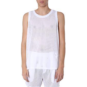 Rick Owens Cm20s000621508611 Men's White Polyester T-shirt