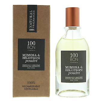100Bon Mimosa & Heliotrope Poudre Concentre Eau de Parfum Spray 50ml Refillable