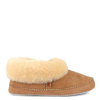 Shepherd of Sweden Emmy Chestnut Sheepskin Slipper Boot