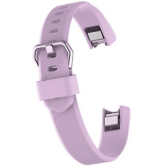 Watch strap for fitbit alta lilac silicone rubber sizes small and large