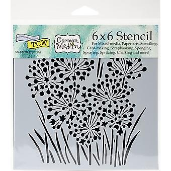 The Crafter's Workshop Onion Blossoms 6x6 Inch Stencil