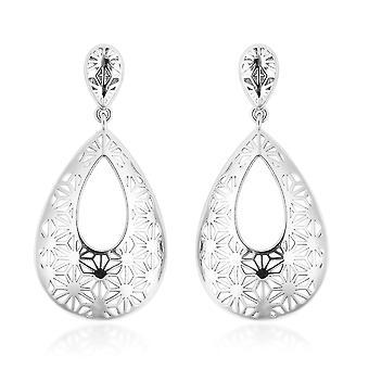 GP Snowflakes Drop Dangle Blue Sapphire Earrings for Women Sterling Silver