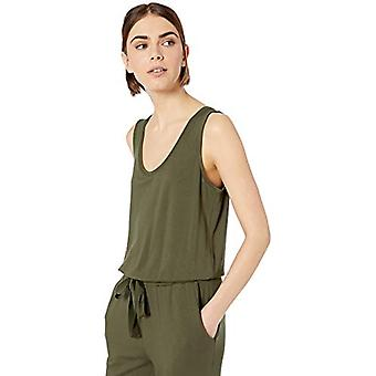 Brand - Daily Ritual Women's Supersoft Terry Sleeveless Jumpsuit, Olive, Small