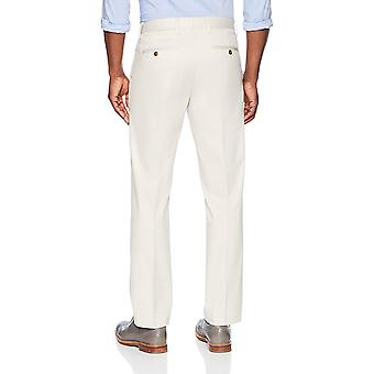BUTTONED DOWN Men's Straight Fit Stretch Non-Iron Dress Chino Pant, Stone, 35W x 32L
