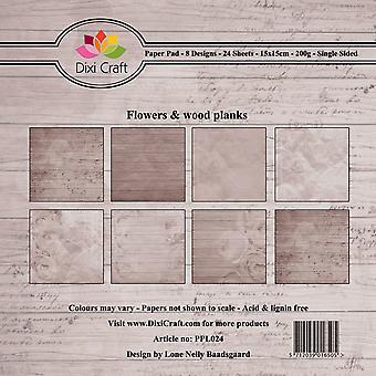 Dixi-käsityökukat &; Puu lankut ruskea 15x15 cm paperityyny