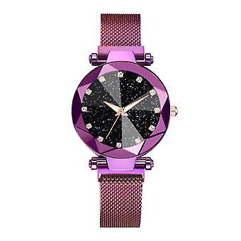 Yuhao Starry Night Watch Ladies - Luxury Anologue Quartz Movement for Women Purple