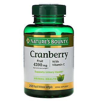 Nature's Bounty, Tranbär med C-vitamin, 250 Rapid Release Softgels