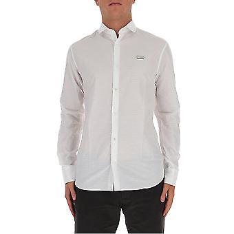 Philipp Plein F20cmrp1375pte003n01 Men's White Cotton Shirt