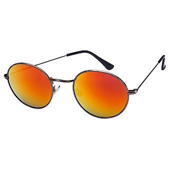 Sunglasses Unisex grey with yellow mirror lens (AZ-16-605)