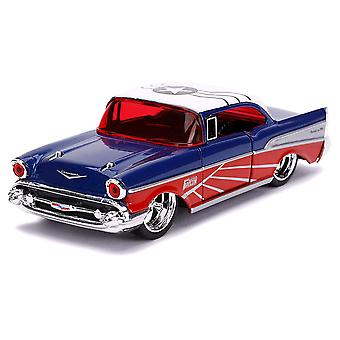 Cap America Falcon 1957 Chevy Bel-Air 1:32 Schaal Hollywd Rd