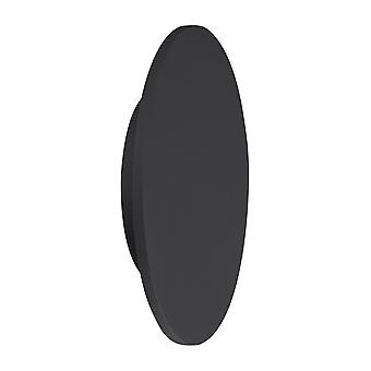 Inspirert Mantra - Bora Bora - LED Tak, Vegglys 38cm Runde 30W, 3000K, 2400lm, Matt Svart
