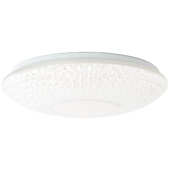 BRILLIANT Lamp Nunya LED plafondlamp 52cm wit/chroom   1x 60W LED geïntegreerd, (4800lm, 3000-6000K)   Schaal A++ naar E