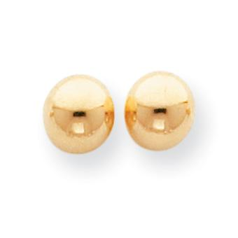 14k Yellow Gold Hollow Polished 7mm Ball Post Earrings Measures 7x7mm Jewelry Gifts for Women
