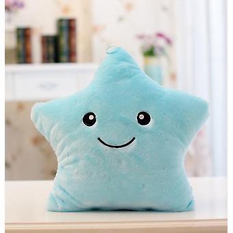 Travesseiro de pelúcia luminoso estrela bonito - Brilho de luz led em brinquedo escuro