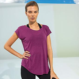 TriDri Women's Yoga Cap Sleeve T-Shirt Activewear
